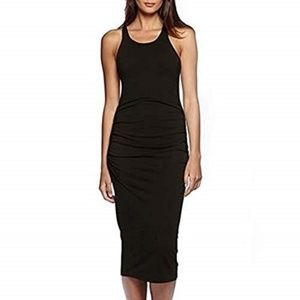 NWT Michael Stars Anthro Ruched Black Dress